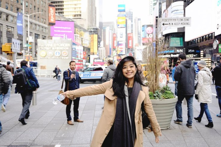 Times Square in the day time. Look at the dude photobombing in the back lol