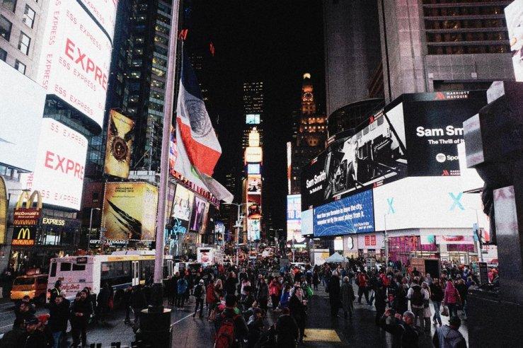 Times Square. So bright.