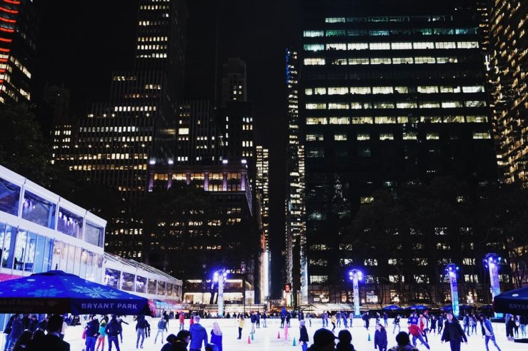 We ended up ice skating here the next day and it was so cool being surrounded by all of the NY buildings with Christmas music playing in the background. Definitely a bigger rink than Rockefeller Center and cheaper. I felt like I was in a movie or something.