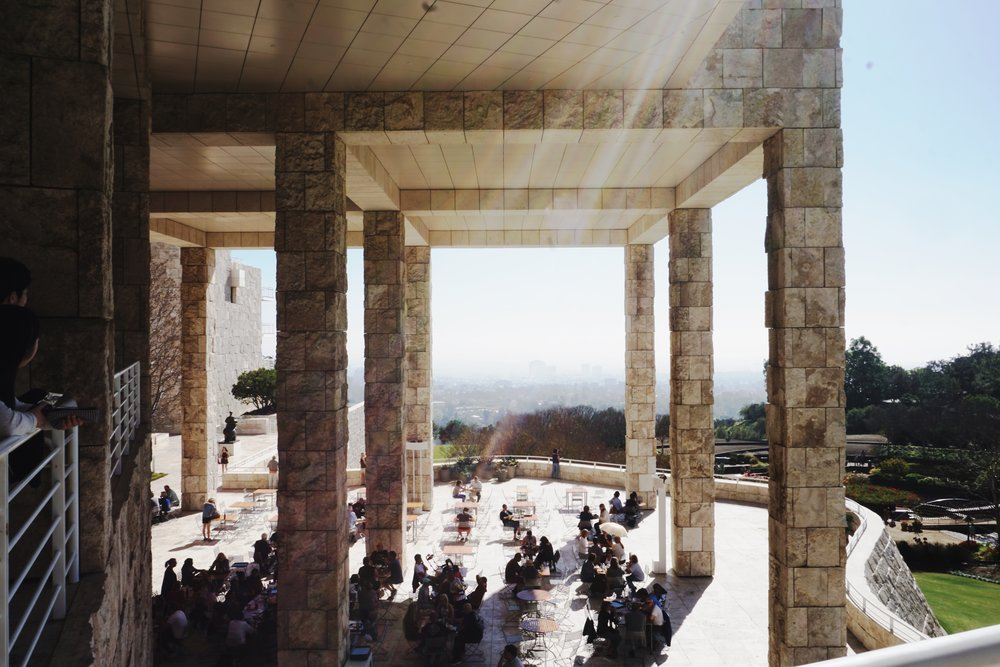After our morning cup o' coffee and matcha, we headed to The Getty Museum because I've never been there before and seeing pictures of it always makes me want to go. This place is beeeeeautiful. We spent about 2 hours here just on our own, without any of the guided tours, and I feel like I could've spent all day there. I love museums, definitely more my pace. There are multiple buildings that have different pieces and displays. Jay and I just wandered wherever. I tried to go by the map, but I get so distracted by things. Basically we just winged it and still had a wonderful art experience.
