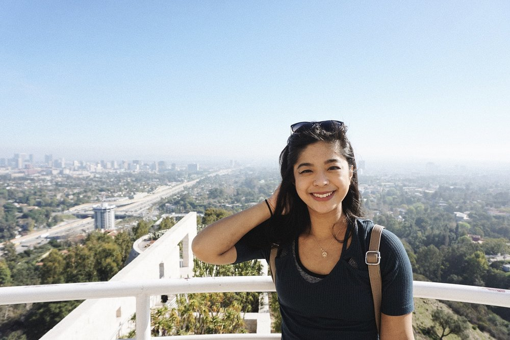 Mm mm, that Los Angeles View. I know I'm so squinty here but my glasses needed to hold up the hot mess that was my hair. Wind is not my friend.
