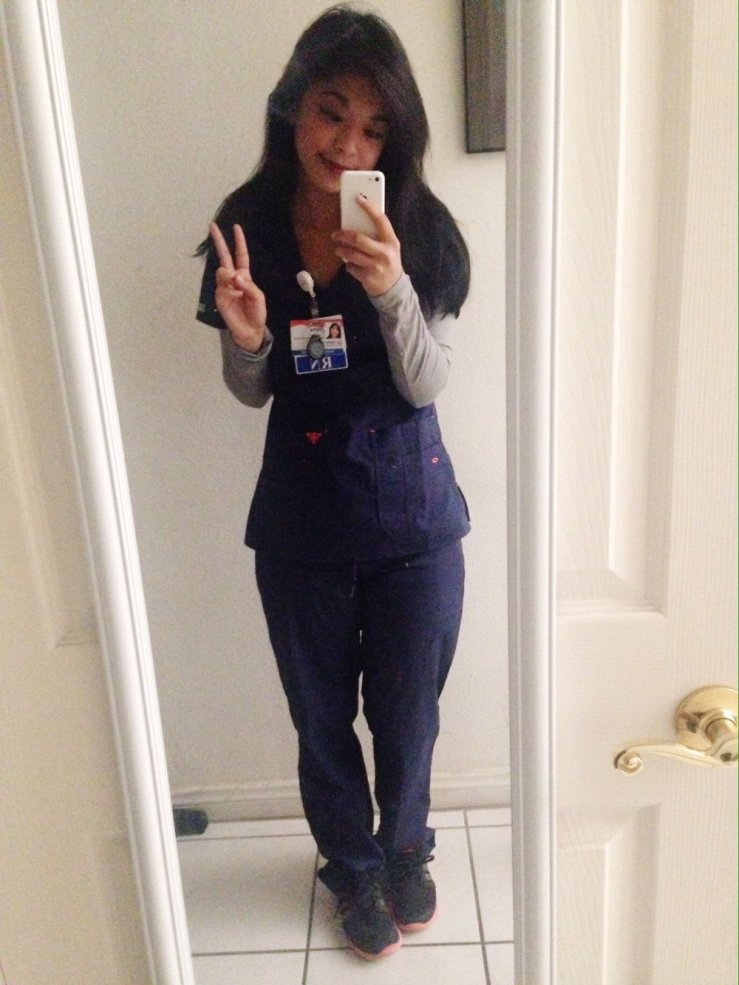 (My literal first pictures as a new grad nurse before orientation, hehe)