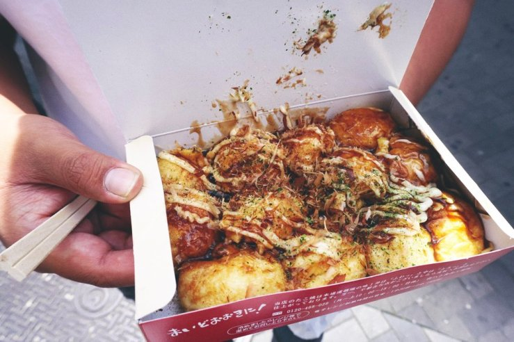 Osaka is known for these octopus balls called Takoyaki. I really don't like the texture of octopus, but these were good and flavorful.