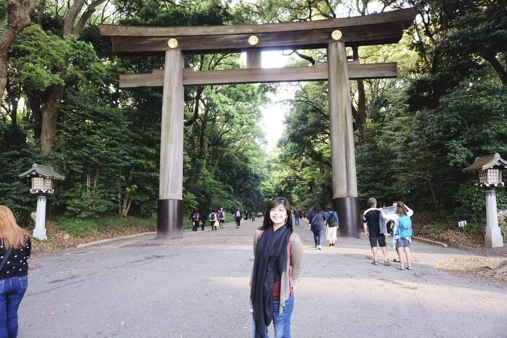 A few blocks away, you can escape from all of the craziness of Harajuku and find yourself in a completely different atmosphere of Zen, History, and Serenity. This is Meiji shrine. Each shrine located in Japan is dedicated to a specific emperor that ruled Japan during that era to enshrine their souls after they die. Meiji shrine was dedicated to Emperor Meiji and Empress Shoken that ruled during the Japanese industrial revolution.