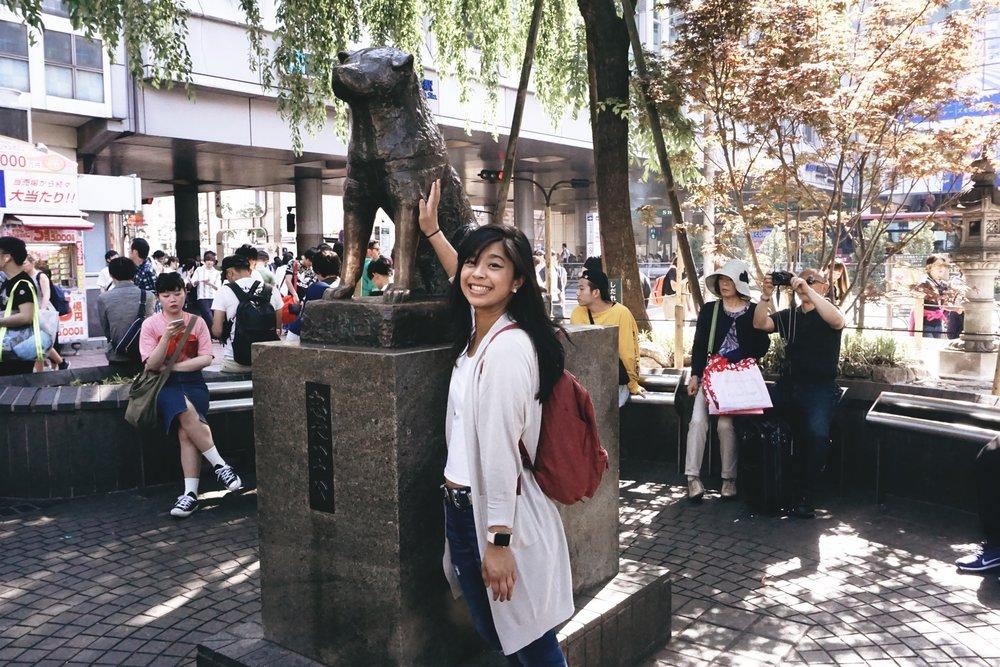 Hachi statue in Shibuya